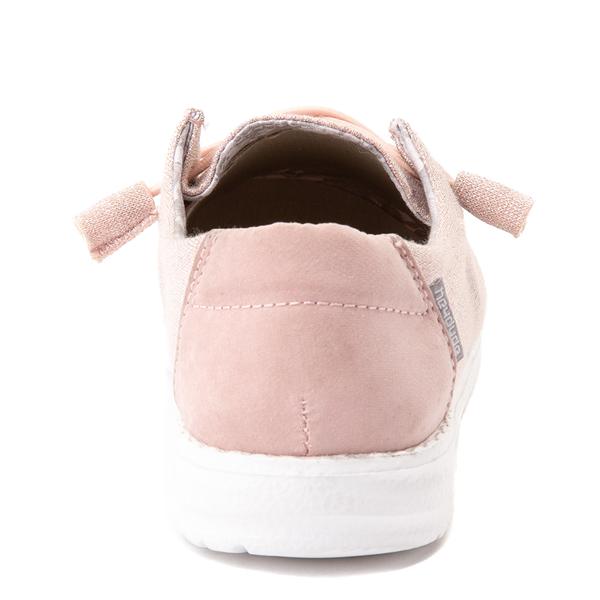 alternate view Womens Hey Dude Wendy Slip On Casual Shoe - Sparkling PinkALT4