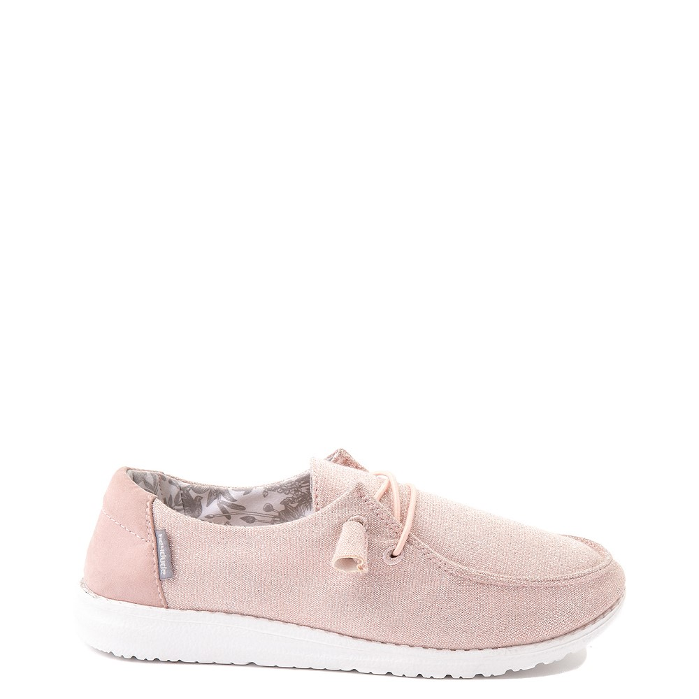 Womens Hey Dude Wendy Slip On Casual Shoe - Sparkling Pink