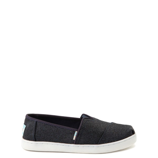 Main view of TOMS Classic Glitter Slip On Casual Shoe - Little Kid / Big Kid - Midnight