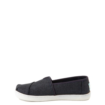Alternate view of TOMS Classic Glitter Slip On Casual Shoe - Little Kid / Big Kid - Midnight