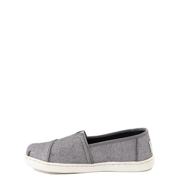 alternate view TOMS Classic Glitter Slip On Casual Shoe - Little Kid / Big Kid - PewterALT1