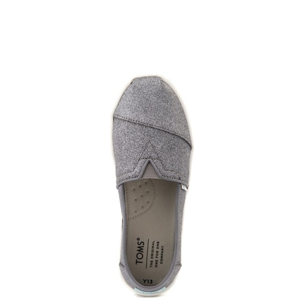 alternate view TOMS Classic Glitter Slip On Casual Shoe - Little Kid / Big Kid - PewterALT2