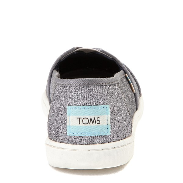 alternate view TOMS Classic Glitter Slip On Casual Shoe - Little Kid / Big Kid - PewterALT4