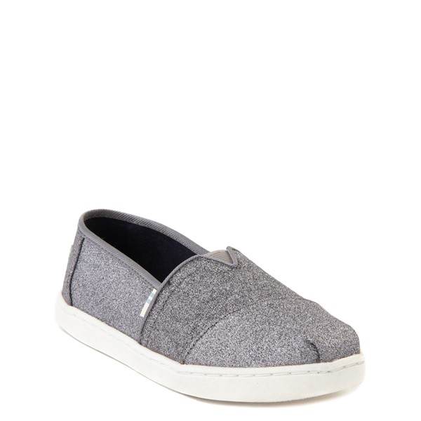 alternate view TOMS Classic Glitter Slip On Casual Shoe - Little Kid / Big Kid - PewterALT5