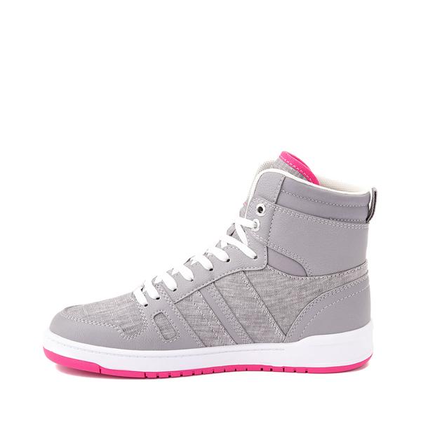 alternate view Womens Levi's 521 BB Hi Casual Shoe - Gray / PinkALT1