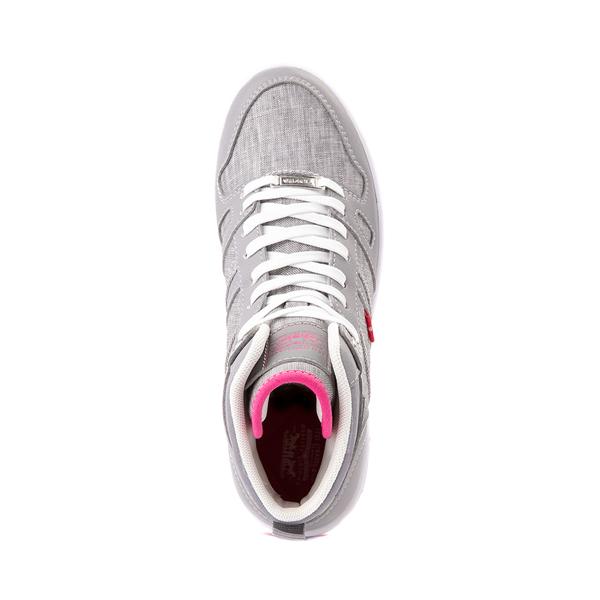 alternate view Womens Levi's 521 BB Hi Casual Shoe - Gray / PinkALT2