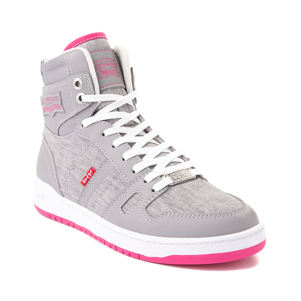alternate view Womens Levi's 521 BB Hi Casual Shoe - Gray / PinkALT5