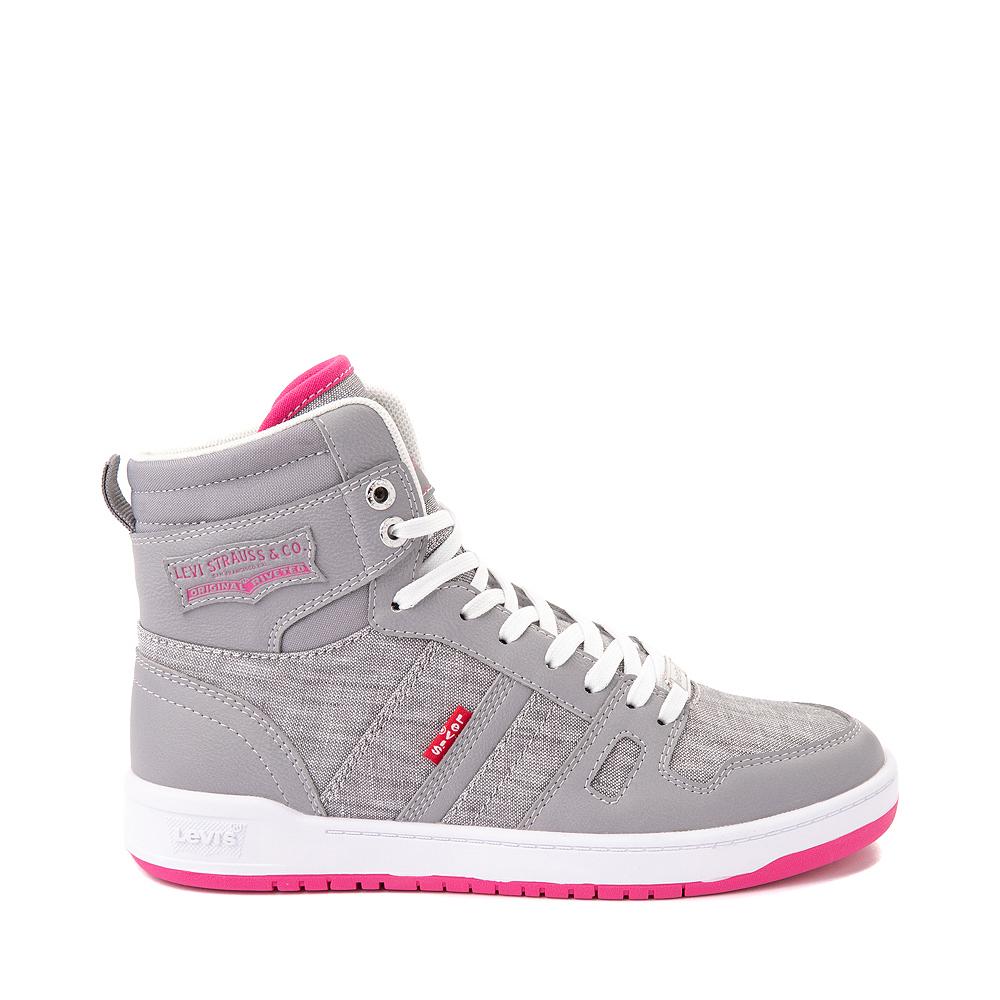 Womens Levi's 521 BB Hi Casual Shoe - Gray / Pink