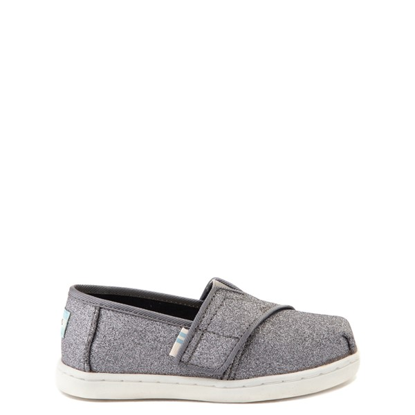 Main view of TOMS Classic Glitter Slip On Casual Shoe - Baby / Toddler / Little Kid - Pewter