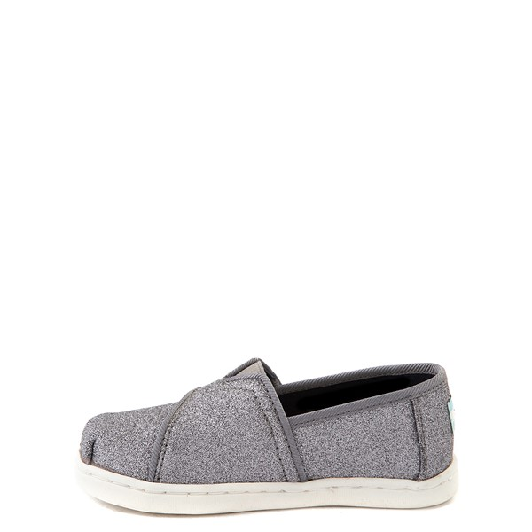 alternate view TOMS Classic Glitter Slip On Casual Shoe - Baby / Toddler / Little Kid - PewterALT1