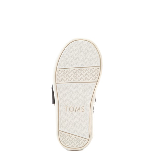 alternate view TOMS Classic Glitter Slip On Casual Shoe - Baby / Toddler / Little Kid - PewterALT3