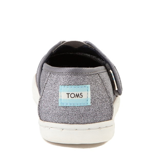 alternate view TOMS Classic Glitter Slip On Casual Shoe - Baby / Toddler / Little Kid - PewterALT4