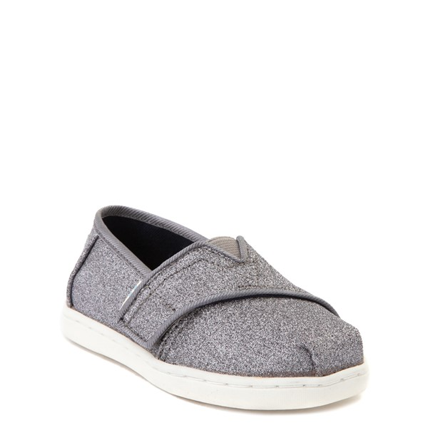 alternate view TOMS Classic Glitter Slip On Casual Shoe - Baby / Toddler / Little Kid - PewterALT5