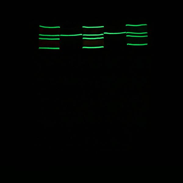 alternate view Mens Glow Stripe Tube Socks 5 Pack - Black / MulticolorALT1