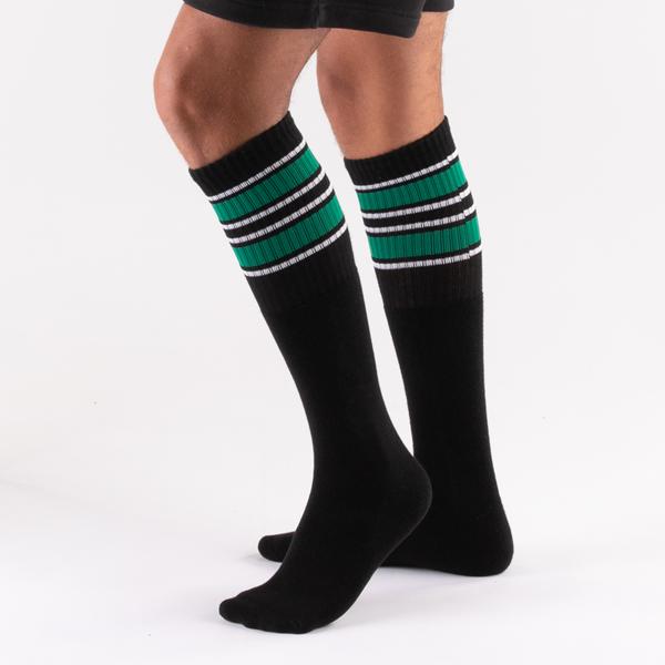 alternate view Mens Glow Stripe Tube Socks 5 Pack - Black / MulticolorALT2