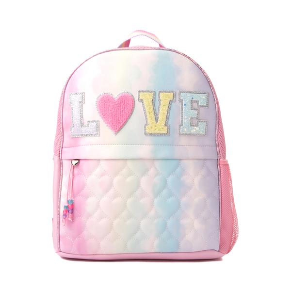 Main view of Love Tie Dye Backpack - Pink / Multicolor