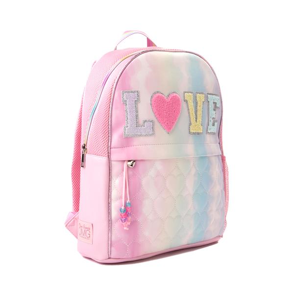 alternate view Love Tie Dye Backpack - Pink / MulticolorALT4B