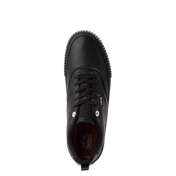 alternate view Mens Levi's Lance Casual Shoe - Black MonochromeALT2