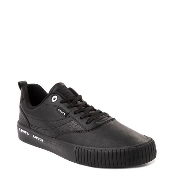 alternate view Mens Levi's Lance Casual Shoe - Black MonochromeALT5