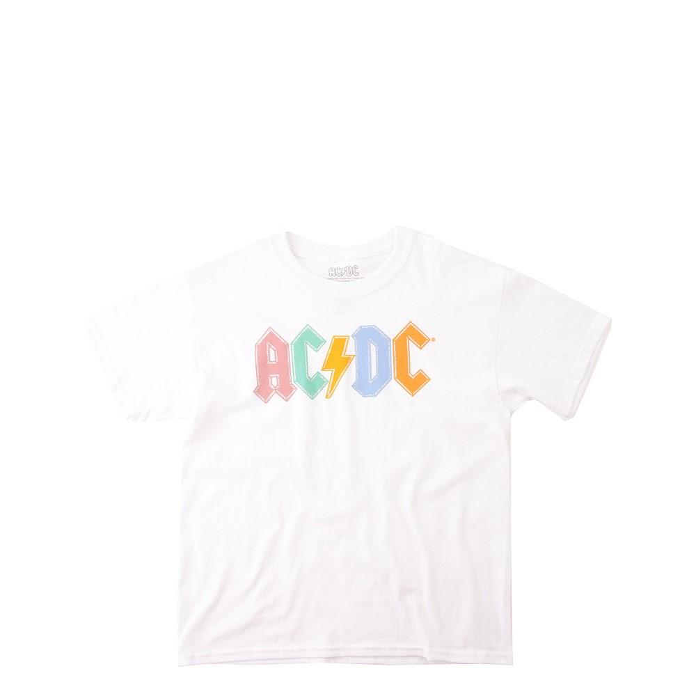 AC/DC Glitter Logo Tee - Little Kid / Big Kid - White