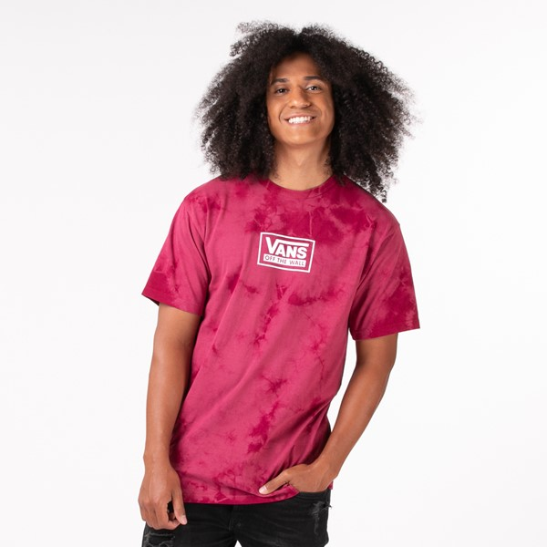 Main view of Mens Vans Off The Wall Spot Tie Dye Tee - Raspberry Radiance