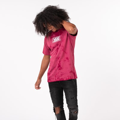 Alternate view of Mens Vans Off The Wall Spot Tie Dye Tee - Raspberry Radiance