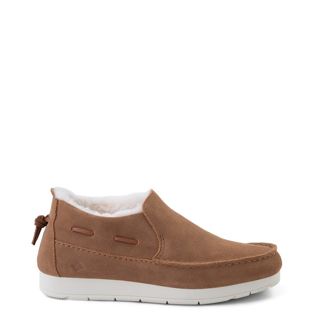 Womens Sperry Top-Sider Moc-Sider Slip On Casual Shoe - Tan