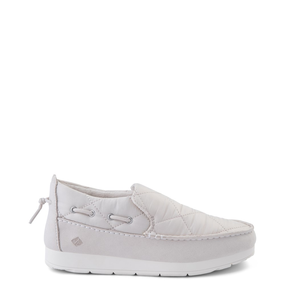 Womens Sperry Top-Sider Moc-Sider Slip On Casual Shoe - Ivory