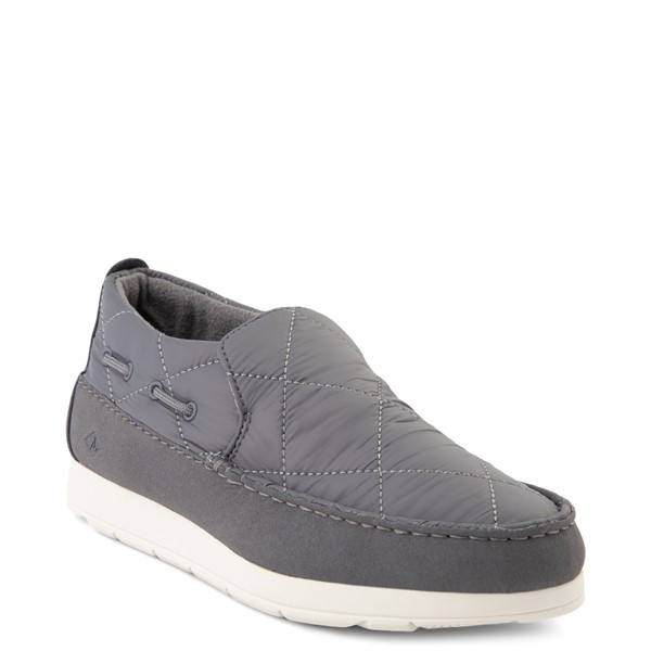 alternate view Womens Sperry Top-Sider Moc-Sider Slip On Casual Shoe - GrayALT5