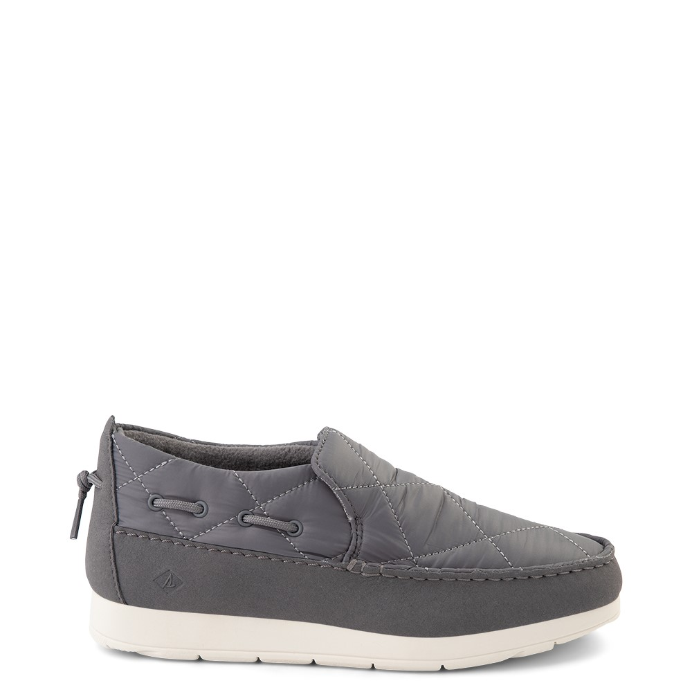 Womens Sperry Top-Sider Moc-Sider Slip On Casual Shoe - Gray
