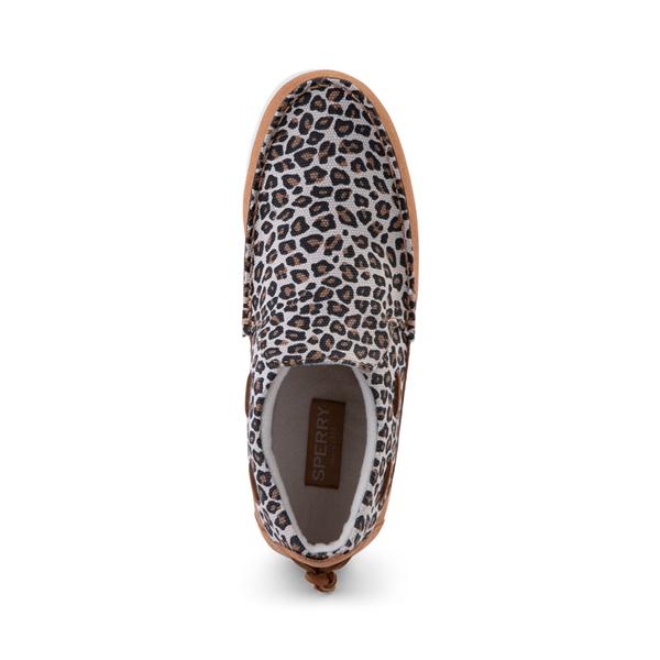 alternate view Womens Sperry Top-Sider Moc-Sider Slip On Casual Shoe - LeopardALT2