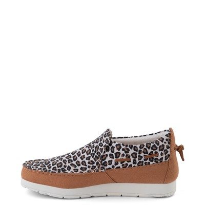 Alternate view of Womens Sperry Top-Sider Moc-Sider Slip On Casual Shoe - Leopard
