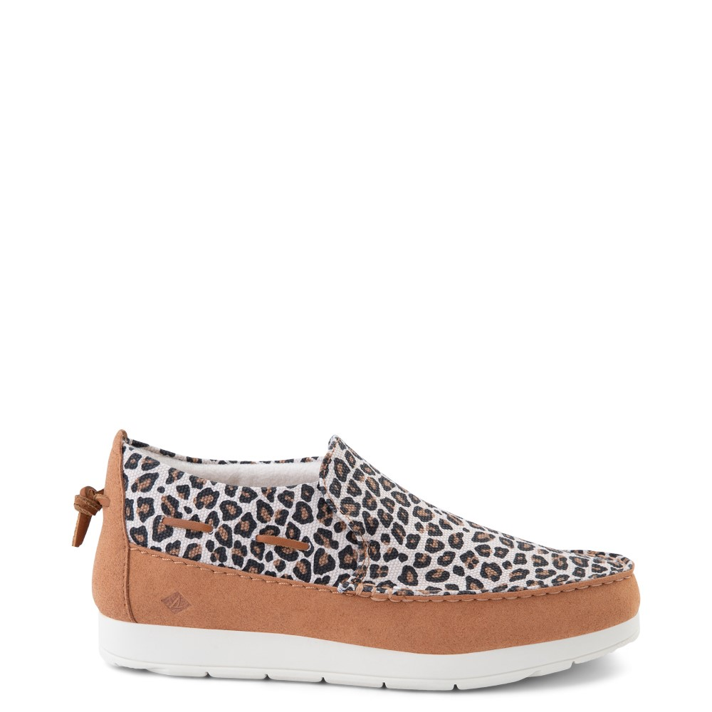Womens Sperry Top-Sider Moc-Sider Slip On Casual Shoe - Leopard