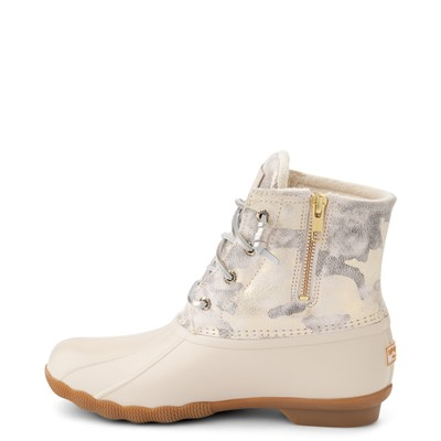 Alternate view of Womens Sperry Top-Sider Saltwater Duck Boot - Ivory / Metallic Camo