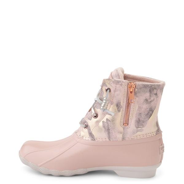 alternate view Womens Sperry Top-Sider Saltwater Duck Boot - Pink / Metallic CamoALT1