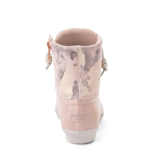 alternate view Womens Sperry Top-Sider Saltwater Duck Boot - Pink / Metallic CamoALT4