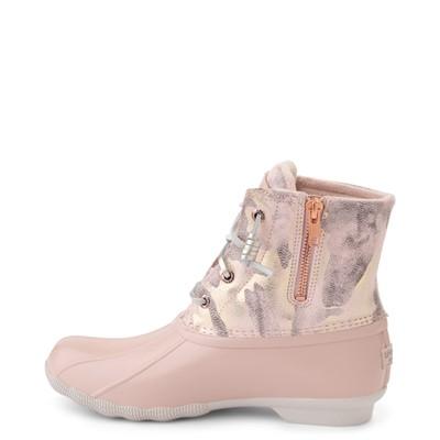 Alternate view of Womens Sperry Top-Sider Saltwater Duck Boot - Pink / Metallic Camo