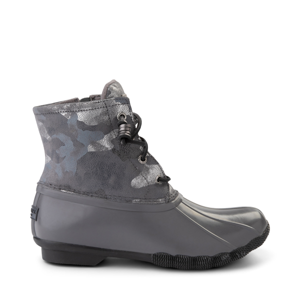 Main view of Womens Sperry Top-Sider Saltwater Duck Boot - Silver / Metallic Camo