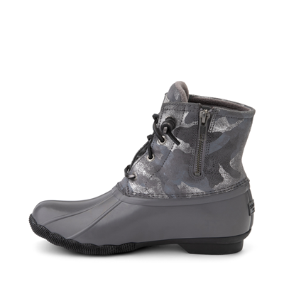 Alternate view of Womens Sperry Top-Sider Saltwater Duck Boot - Silver / Metallic Camo