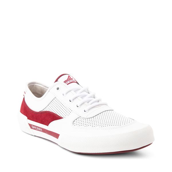 alternate view Mens Sperry Top-Sider Soletide Sneaker - White / RedALT5