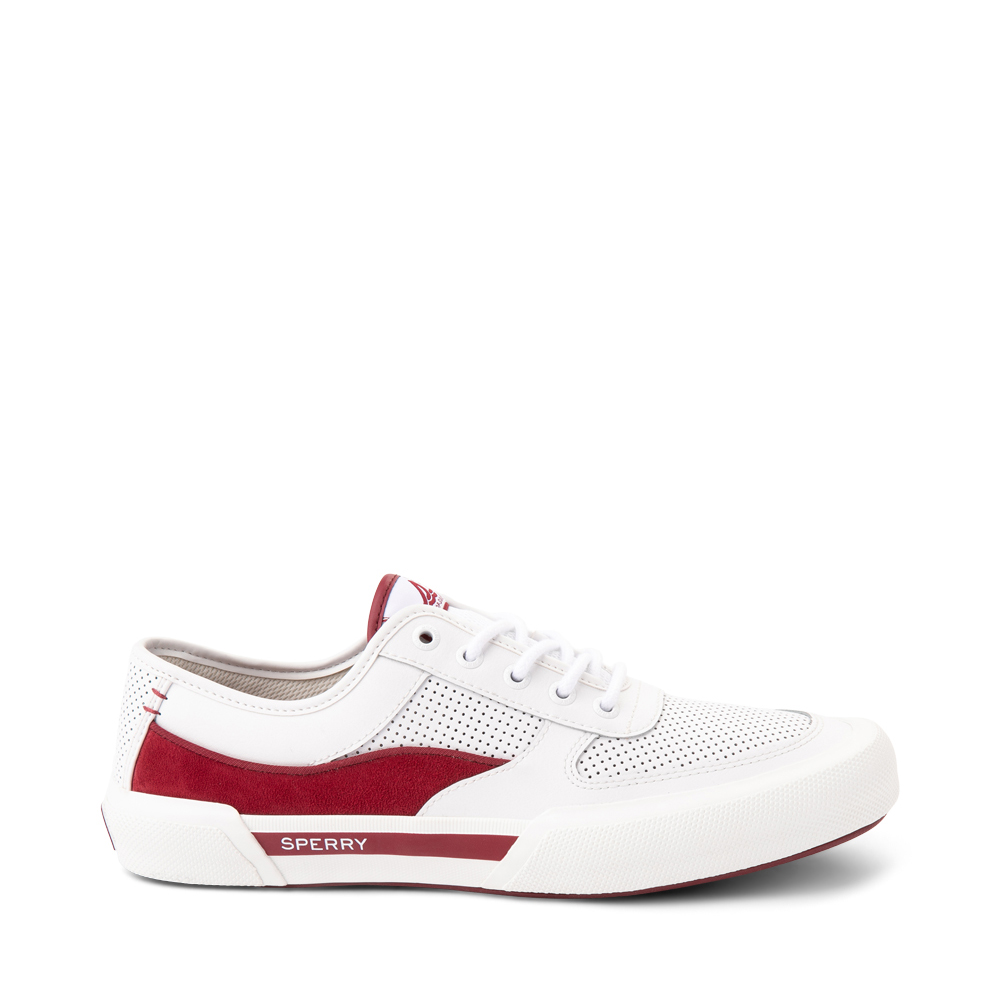 Mens Sperry Top-Sider Soletide Sneaker - White / Red