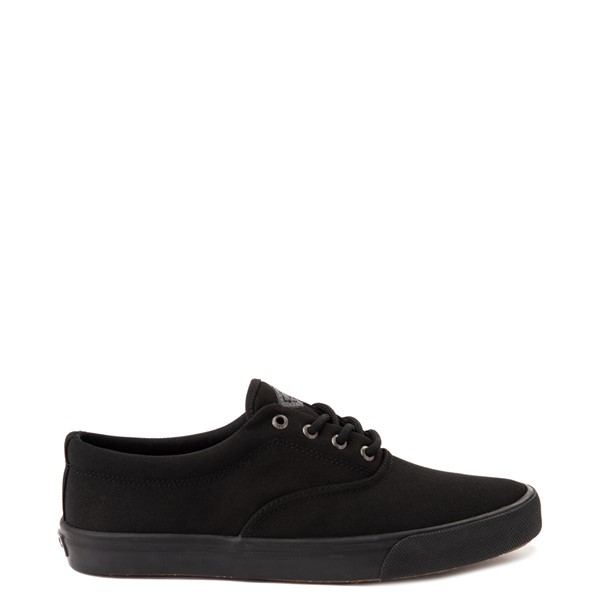 Main view of Mens Sperry Top-Sider Striper II SeaCycled Casual Shoe - Black Monochrome
