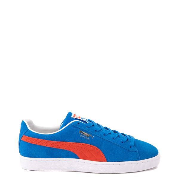 Main view of Mens Puma Suede Athletic Shoe - Future Blue / Grenadine