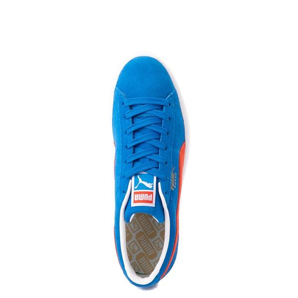 alternate view Mens Puma Suede Athletic Shoe - Future Blue / GrenadineALT2