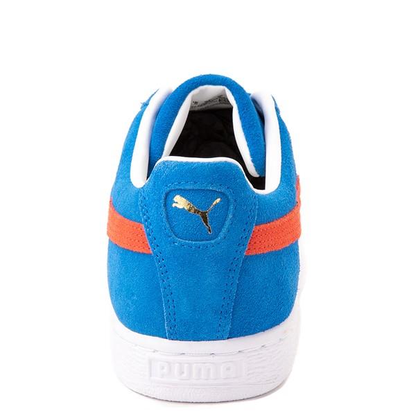 alternate view Mens Puma Suede Athletic Shoe - Future Blue / GrenadineALT4