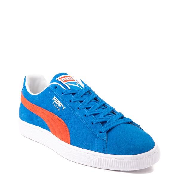alternate view Mens Puma Suede Athletic Shoe - Future Blue / GrenadineALT5