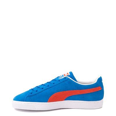 Alternate view of Mens Puma Suede Athletic Shoe - Future Blue / Grenadine