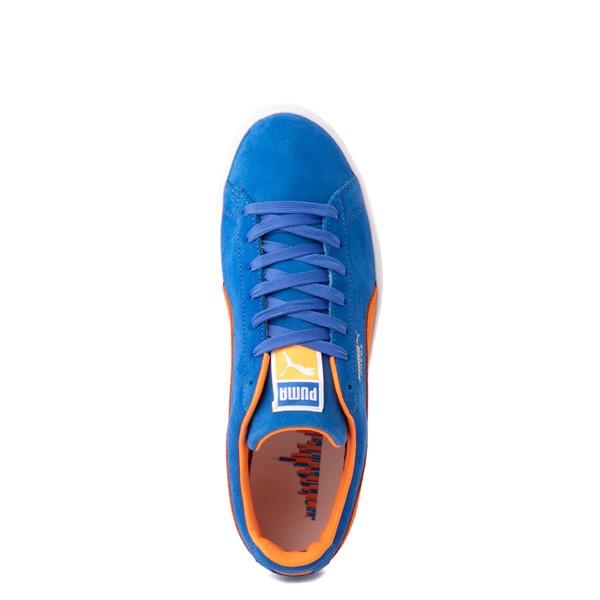 alternate view Mens Puma Suede Athletic Shoe - Royal Blue / Vibrant OrangeALT2