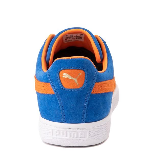 alternate view Mens Puma Suede Athletic Shoe - Royal Blue / Vibrant OrangeALT4