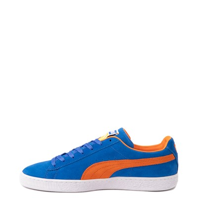 Alternate view of Mens Puma Suede Athletic Shoe - Royal Blue / Vibrant Orange